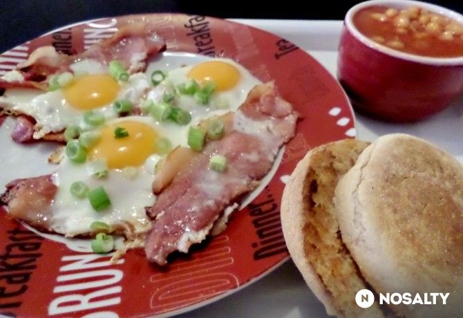 Angol ham and eggs sült babbal