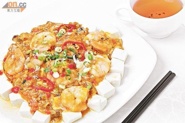 麻婆蟹粉蝦仁豆腐