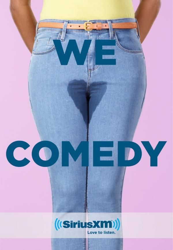 """Печатная реклама """"We Love Comedy, 2"""" сделана рекламным агентством John St для продукта SiriusXM (бренд: Sirius) география: Канада. Выпущена в авг. 2013."""