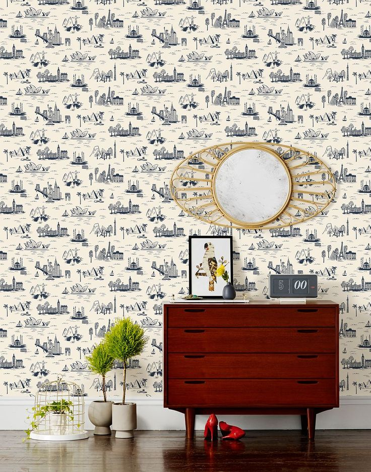 """@Anna Bond's wallpaper collection / City Toile Parchment is on the """"must have"""" list!"""