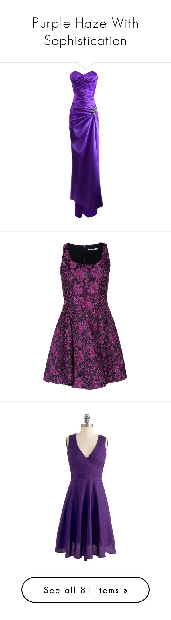 """Purple Haze With Sophistication"" by english-thea ❤ liked on Polyvore featuring dresses, gowns, long dresses, 13. dresses., purple, petite formal dresses, long bridesmaid dresses, long formal dresses, long formal gowns and long gowns"