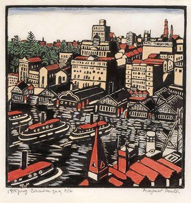 Margaret Preston 'Circular Quay' 1925