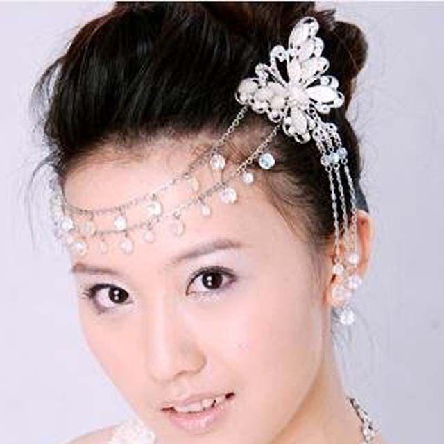 bridal butterfly rhinestone scarf forehead band sweater