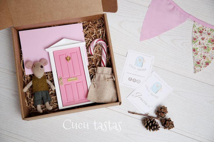 Caja de regalo personalizado del ratoncito Pérez.