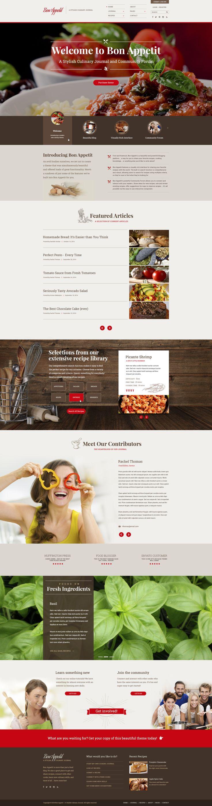 A Stylish Culinary Journal web theme