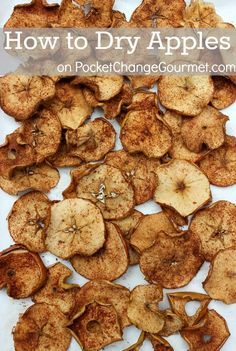 How to Dry Apples + 6 Uses for Dried Apples including recipes & crafts :: on PocketChangeGourmet.com #Apples, #Recipes