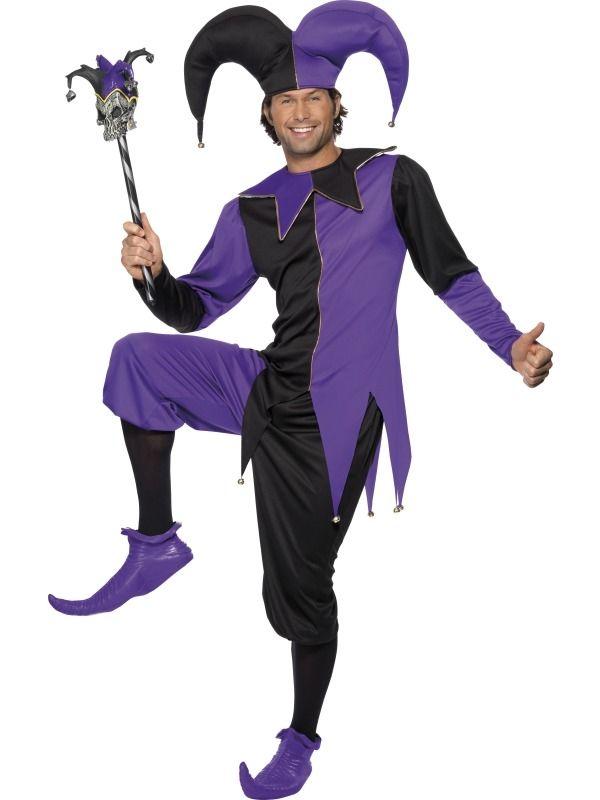 Disfraz de bufón medieval para hombre