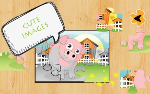 Animal Puzzles Jigsaw for kids. A free educational puzzle game for toddlers & preschoolers