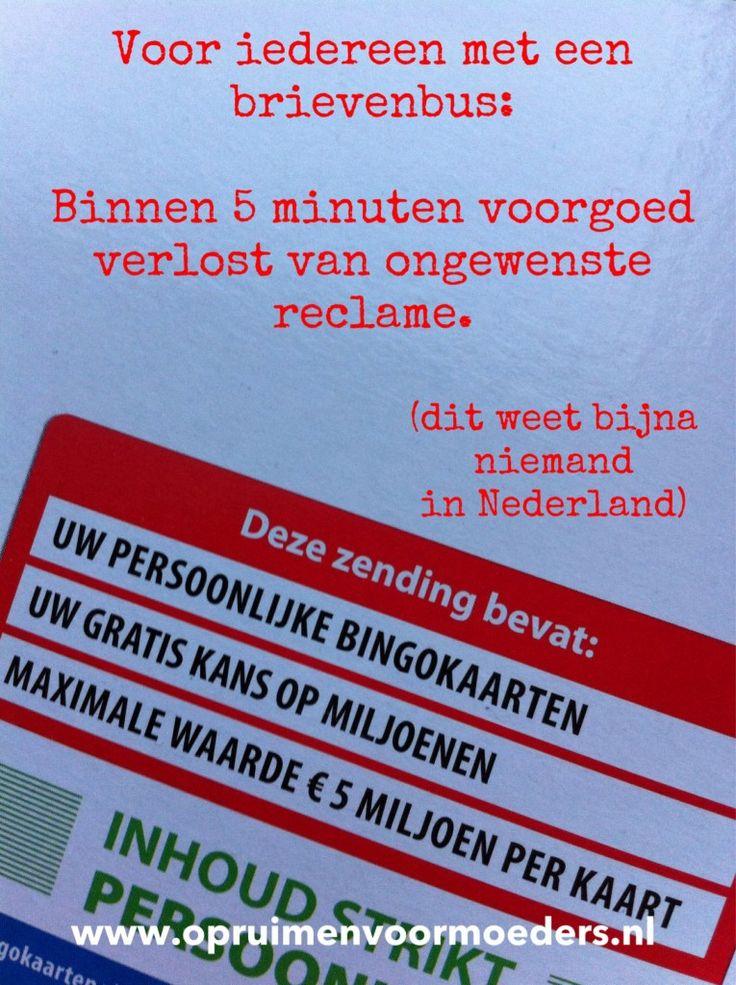 """Zo'n Nee-Ja sticker werkt dus mooi niet. Tenminste: niet tegen geadresseerde reclame. Van die reclame met jóuw naam en adres er op. Of gericht aan 'de bewoners van'. En dan jouw adres erachter. """"U heeft gewonnen!"""" """"Deze zendingbevat persoonlijke documenten!"""" """"Maak snel open voor een uniek jubileum-aanbod!"""" Ik noem het 'nep-post'. Rommel vermomd als post. …"""