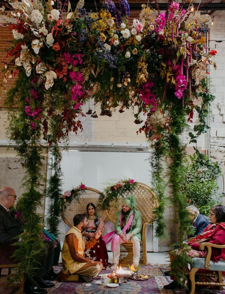 Eclectic + Colorful Urban Indian Wedding at a Craft Brewery!