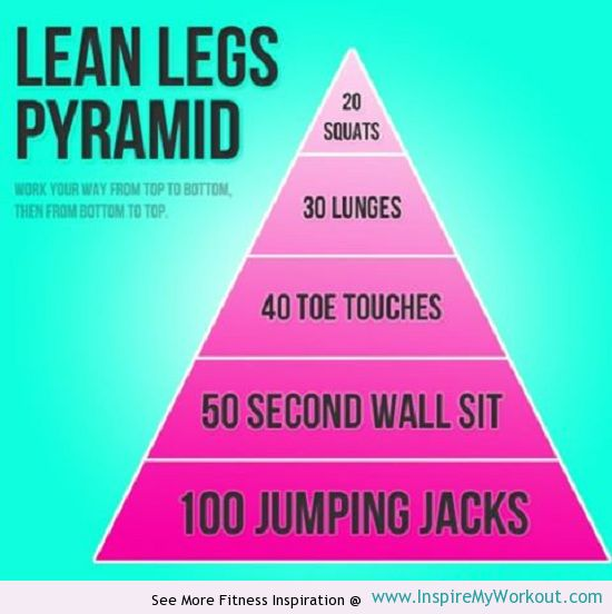 Lean #Legs Pyramid #Workout via www.InspireMyWorkout.com