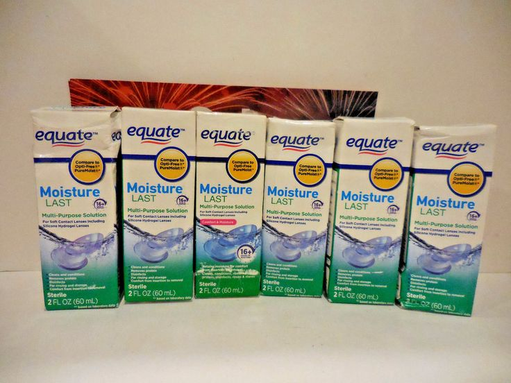 Contact Lens Care Solutions: [Lot Of 6] Equate Moisture Last Contact Lens Solution!!! BUY IT NOW ONLY: $31.99