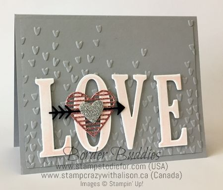 Border Buddies Saturday Love Notes Framelits & Falling Petals Embossing folder by Stampin' Up! www.stampstodiefor.com