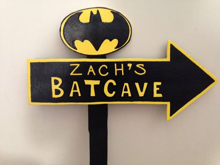 Wood BATCAVE Sign - Batman Birthday - Robin - Welcome Sign - Outdoor Post - Wood Standee by MountainViewCreation on Etsy https://www.etsy.com/listing/200736252/wood-batcave-sign-batman-birthday-robin