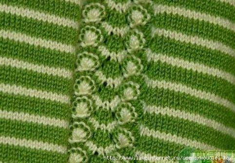 Такой узор можно использовать при вязании реглана.1.     источник