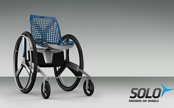 The concept  The Solo Electric Wheelchair Concept provides users with the same ease of use as an electrical wheelchair without compromising on the functionality provided by manual wheelchairs. The ...