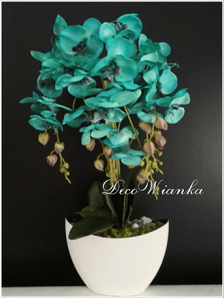 Kompozycja kwiatowa,storczyk,orchidea,sztuczne kwiaty