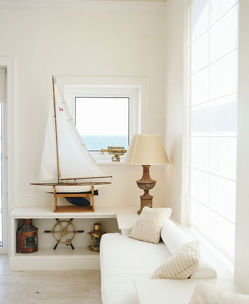 Coastal Decor - Cape Cod Collegiate I have always loved white canvas furnishings! Love curling up in my big white comfy chair with a good book with the sunlight streaming thru the glass on a cool spring day.... The perfect cat nap!