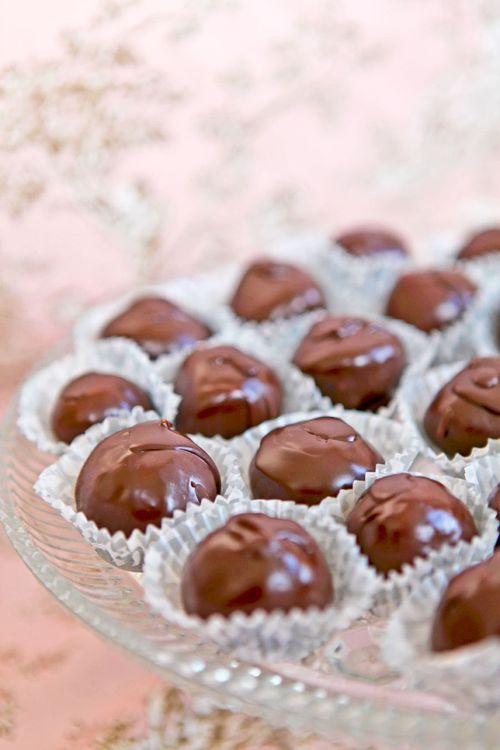 Martha Washingtons - this is the classic recipe I remember making every Christmas from my earliest childhood. Coconut nougat dipped in chocolate. I like to use dark chocolate for an even richer taste.