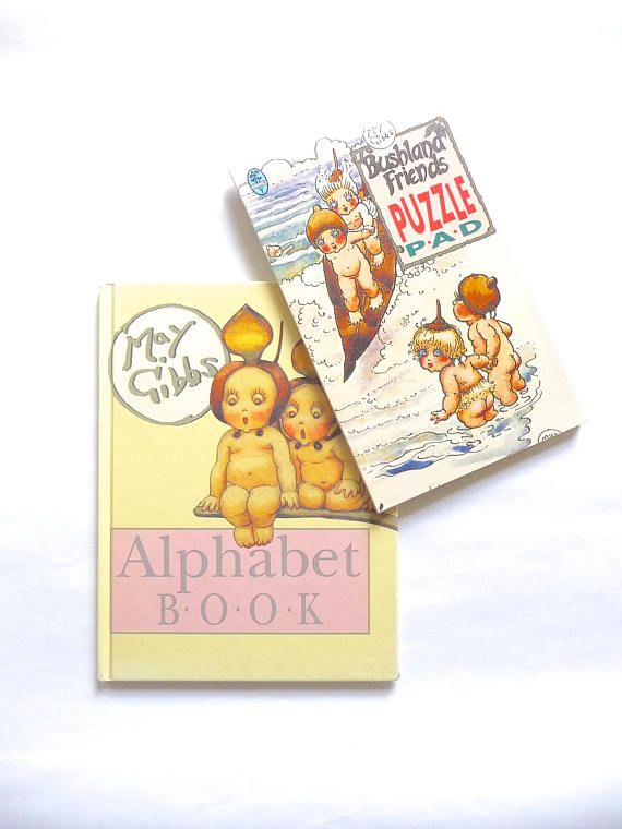 May Gibbs Alphabet Book and Bushland Friends Puzzle Pad