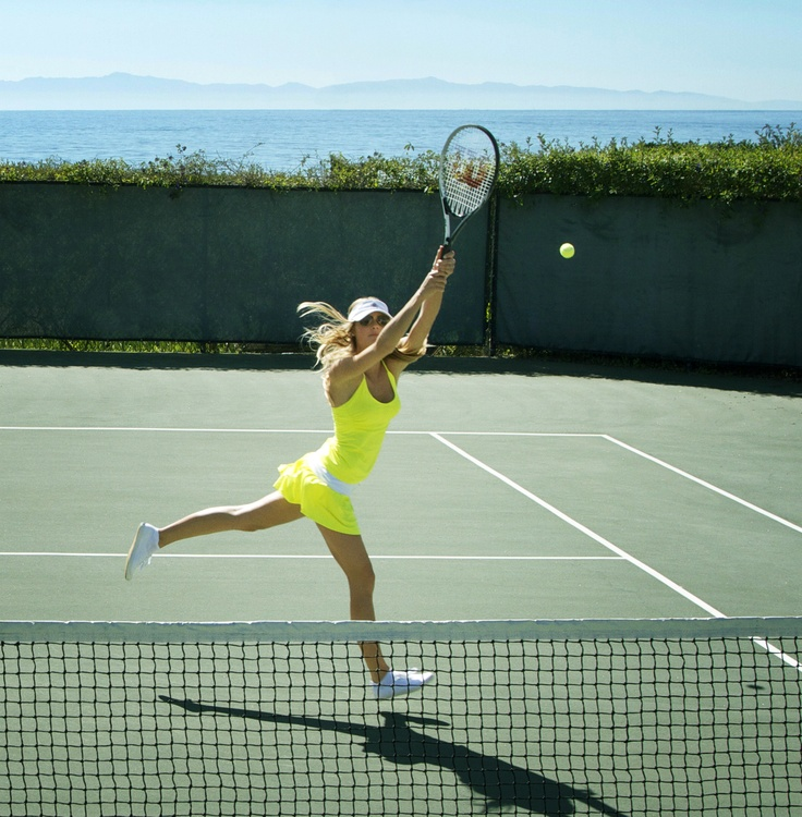 summer in the tennis court.