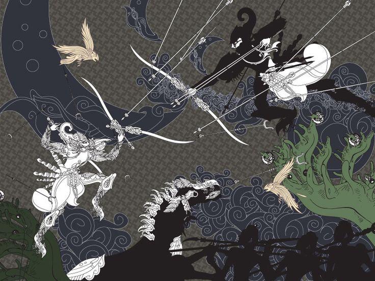 Barathayudha Battle - artwerk by jun1art