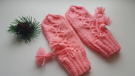 Knit mittens Mittens Hand wear Winter mittens Hand knit