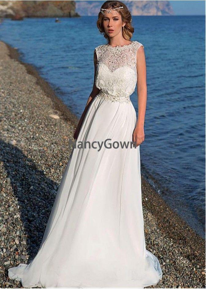 cf121379a2 NancyGown Beach Wedding Dresses T801525319631