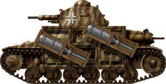 Panzerkampfwagen 35H(f) mit28/32cm Wurfrahmen