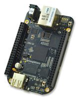The BeagleBone Black is the newest member of the BeagleBoard family. It is a lower-cost, high-expansion focused BeagleBoard using a low cost Sitara™ AM3358 ARM® Cortex™-A8 processor from Texas Instruments, and can connect with the Internet and run software such as Angstrom and Ubuntu. Like its predecessors, the BeagleBone Black is designed to address the Open Source Community, early adopters, and anyone interested in a low cost ARM® Cortex™-A8 based processor.