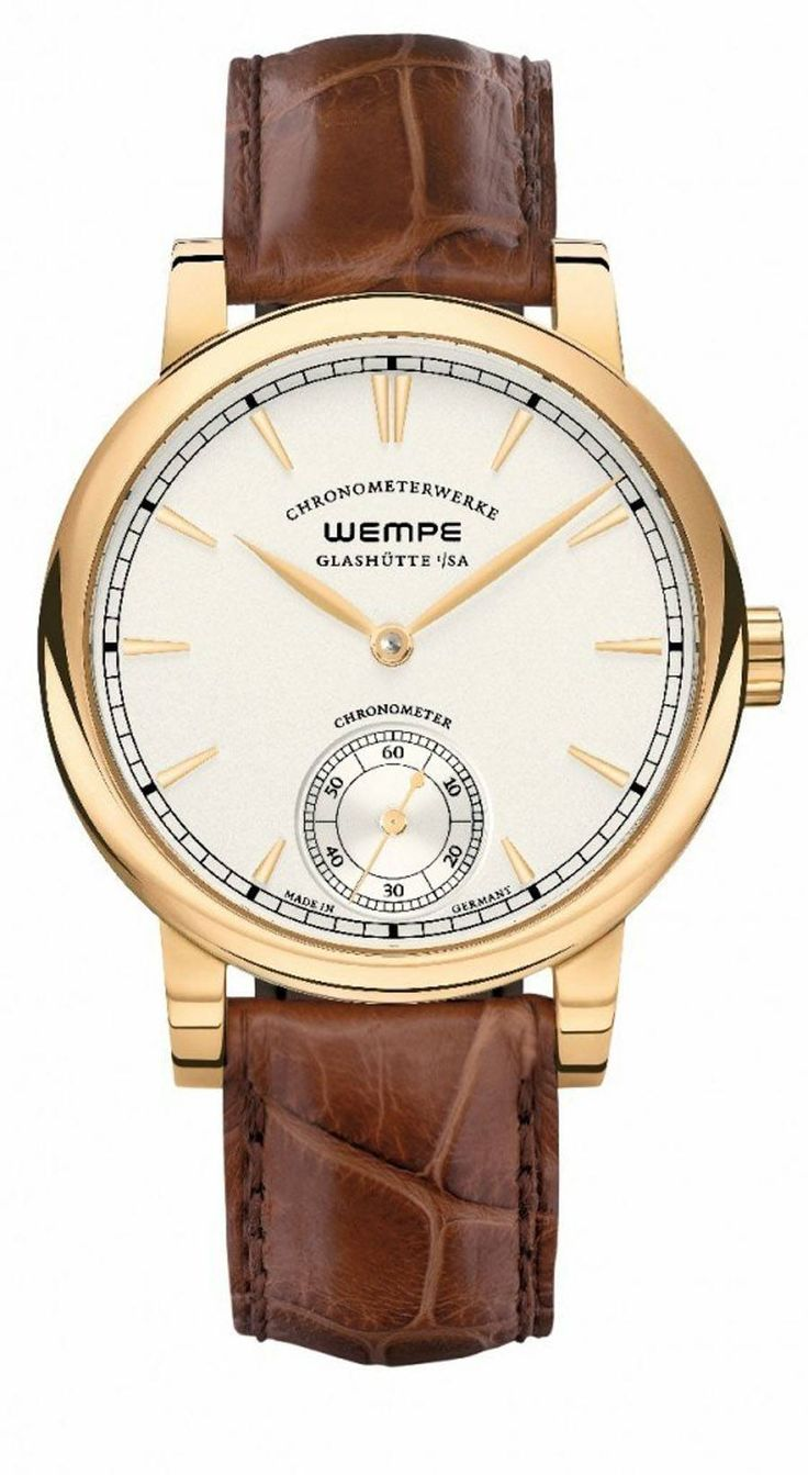 Wempe Glashütte: Chronometerwerke Kleine Sekunde, Gelbgoldgehäuse » Das Uhren Portal: Watchtime.net