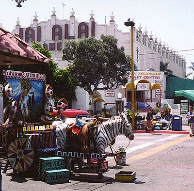 Tijuana Mexico.  This was my first experience outside of the country, when I was 15.  We didn't stay very long since my friend and I were being propositioned (probably a good thing we didn't know Spanish) and my dad was ready to beat some men up for making inappropriate comments and gestures to us.  My mom on the other hand was oblivious and thoroughly enjoing her shopping experience.
