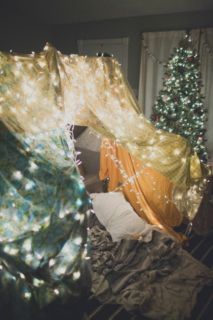For a cozy date night in: Build a fort together.
