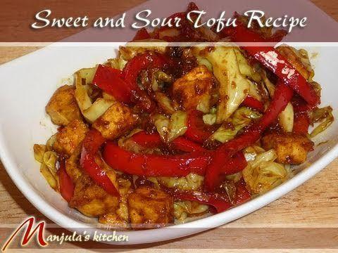 Sweet And Sour Tofu - Manjula's Kitchen - Indian Vegetarian Recipes