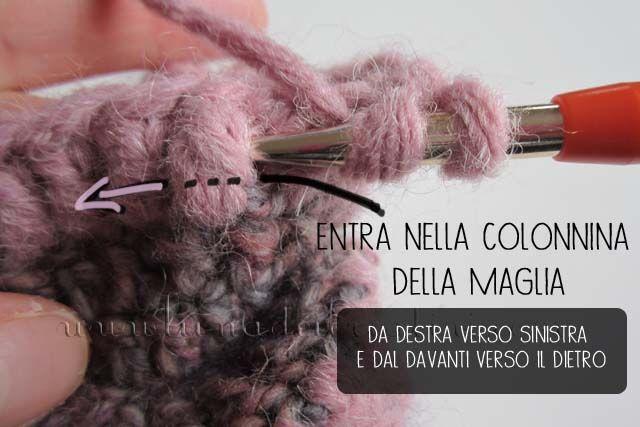 Scuola di Uncinetto (Lezione 6): Maglia Alta in Rilievo Davanti e Dietro - www.lunadeicreativi.com