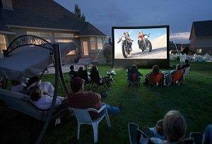 outdoor inflatable screen