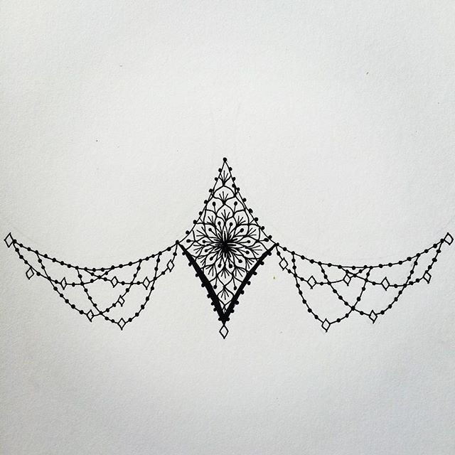 First attempt at a sternum tattoo! #mandalamaze #mandala #zentangle #art #design…