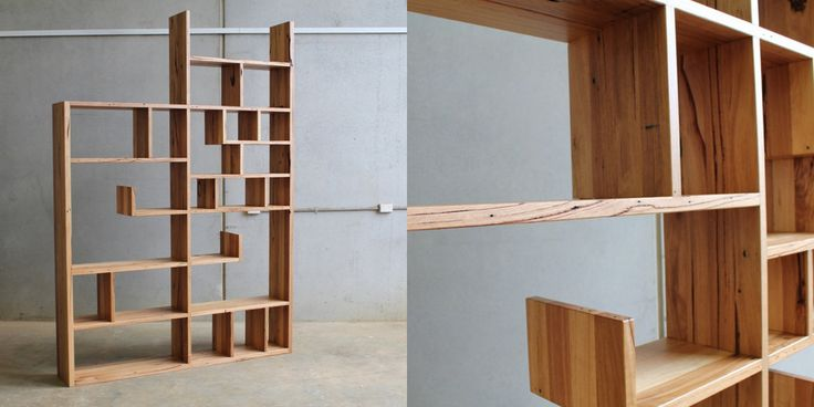 Bookshelf in recycled Australian hardwoods by CHRISTOPHER BLANK