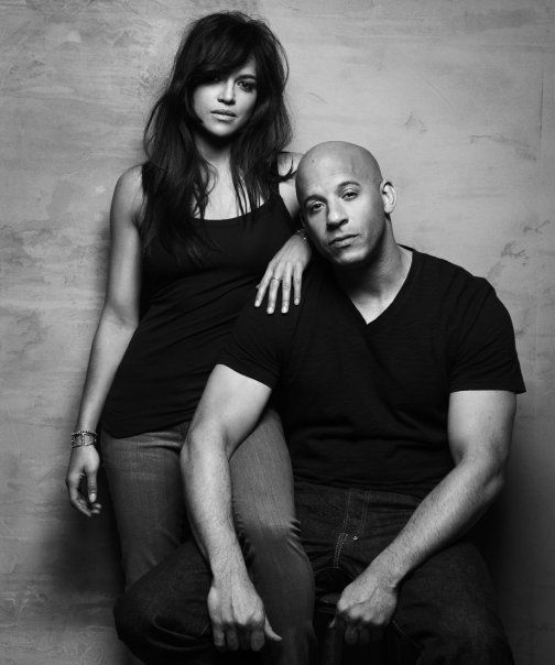 My favorite photo of Vin Diesel and Michelle Rodriguez from the Fast and Furious (the 4th one) photoshoot.