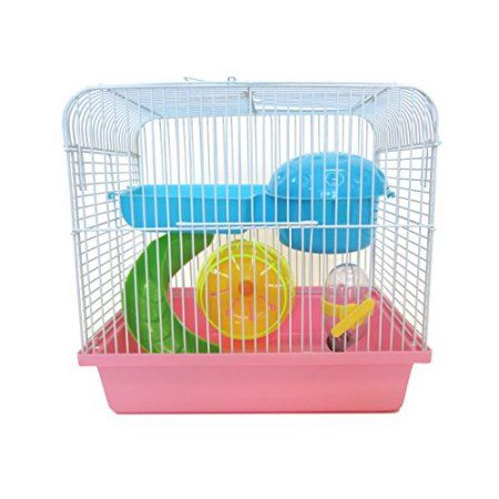 Yml Dwarf Hamster Or Mouse Cage With Accessories Pink Mouse Cage Small Animal Cage Pet Cage