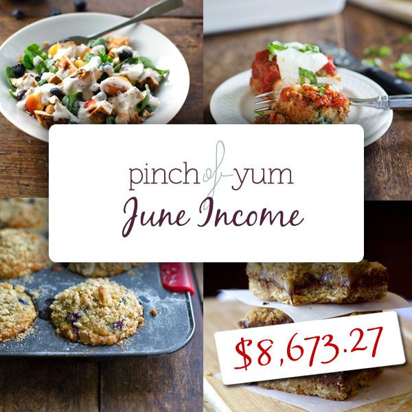 Traffic and Income Report - June 2013--Pinch of Yum is so impressive in how they are wiling to share so much openly.   Love these two!