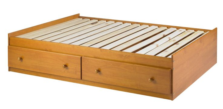 Kansas Honey Pine Solid Wood 2 Drawers For Twin Mate's Bed