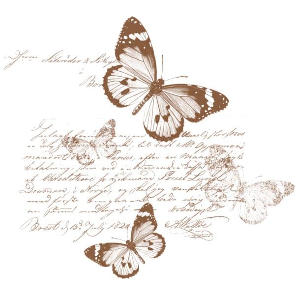 Butterflies and Vintage Script Printable