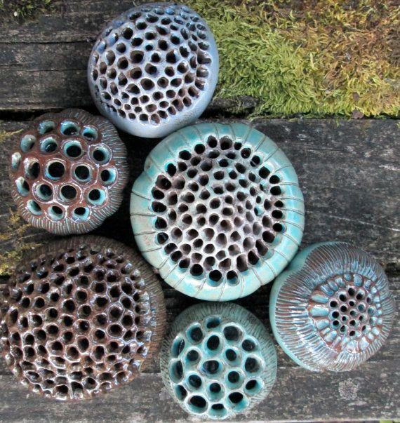 Ceramic PodFlower frogs