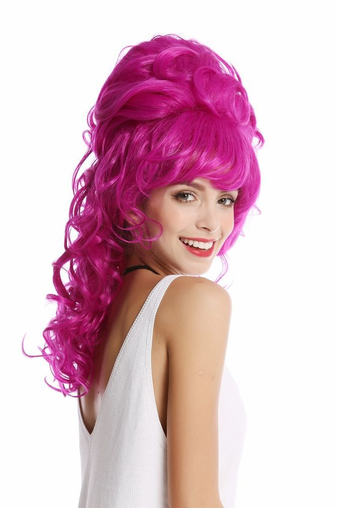 This model is available in different colors. This one is in a Neonviolett. The blonde wig. Kappenkonstruction Tress wig with Scalp imitation. High quality wig made of silky gloss, deceptively real-looking Japanese synthetic fiber. | eBay!