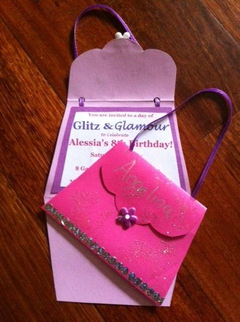 DIY Cute Purse invitations