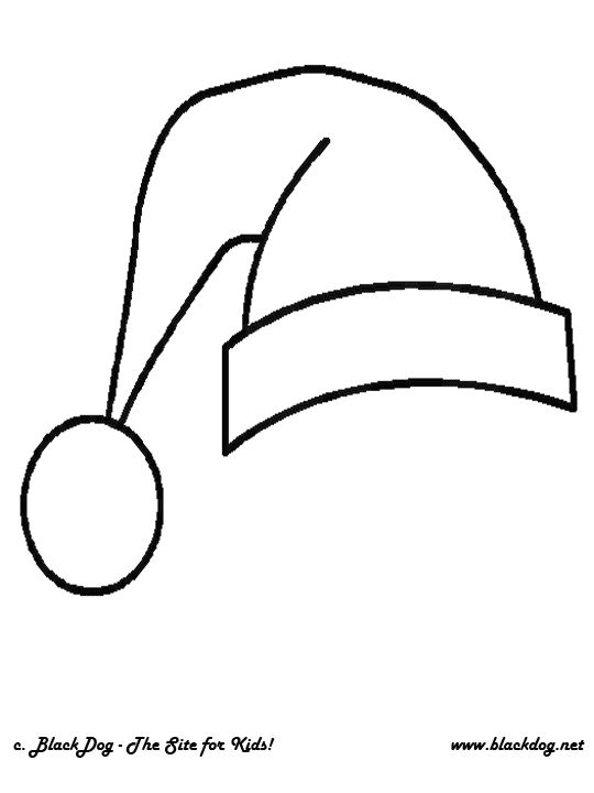 santa hat colouring pages page 2 holidays pinterest santa hat and santa