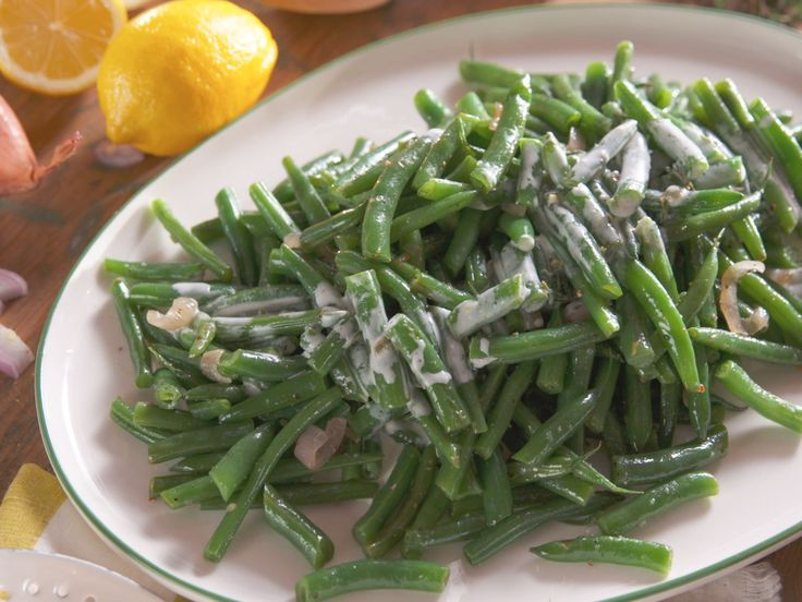 Sauteed Green Beans with Creamy Lemon Dressing recipe from Nancy Fuller via Food Network