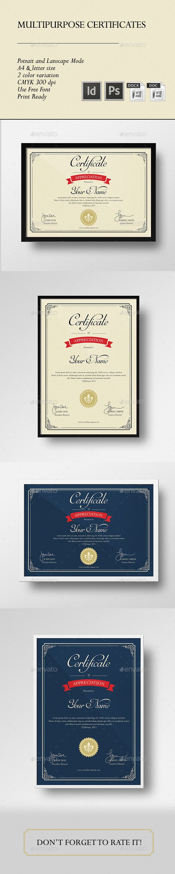 156 best certificate template design images on pinterest multipurpose certificate yelopaper Choice Image