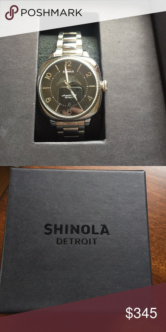 💥SALE💥 Shinola Watch This is gorgeous and new with tags and in box. No scratches or signs of wear. Working battery - just needs date change. Moon phase and has all links. This is a great watch and great deal !! Shinola Accessories Watches
